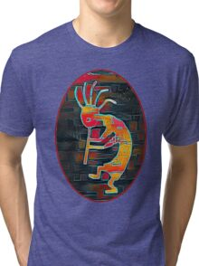 Kokopelli - Southwest Native American Icon Tri-blend T-Shirt