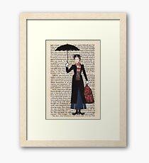Mary Poppins Gerahmtes Wandbild
