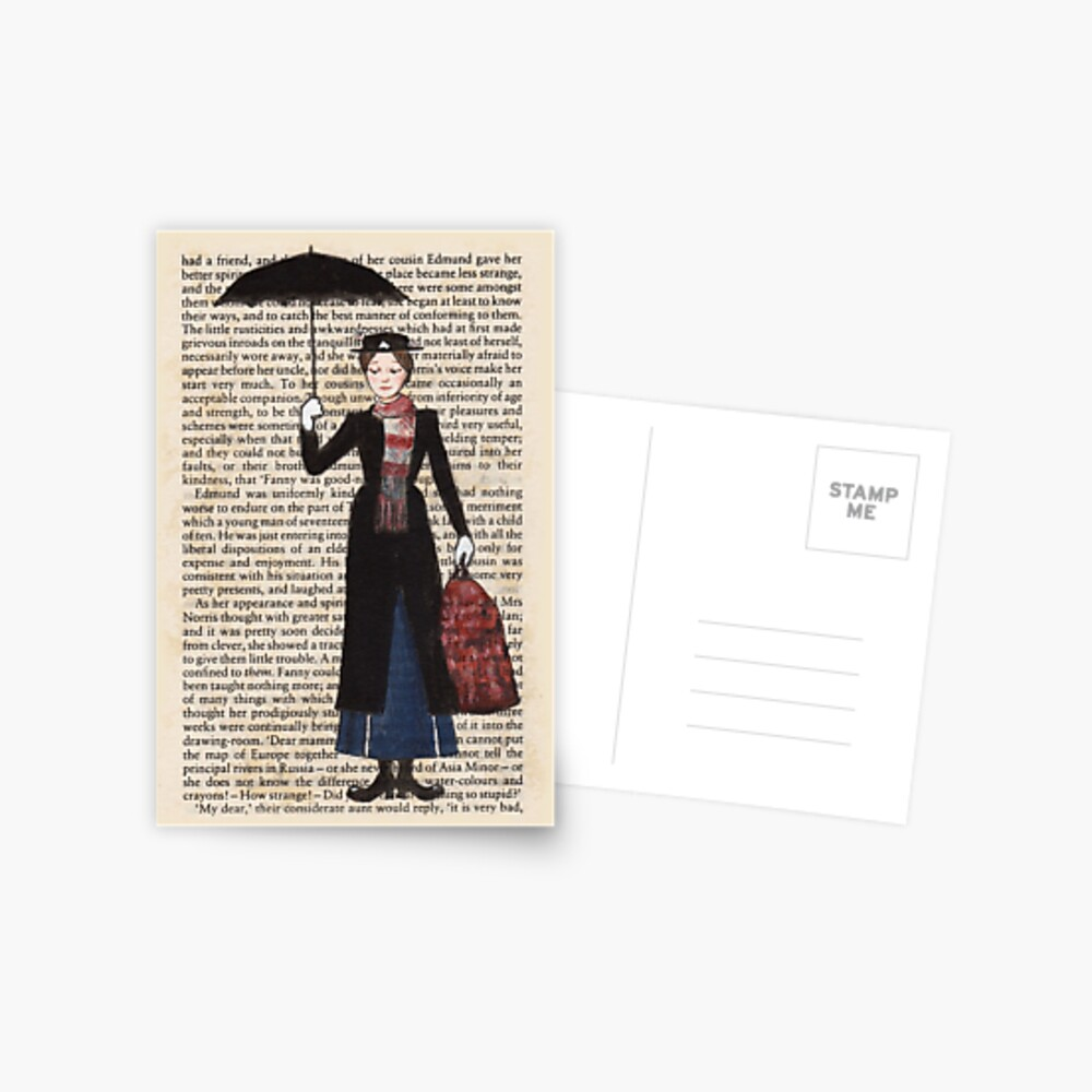 Mary Poppins Postcard