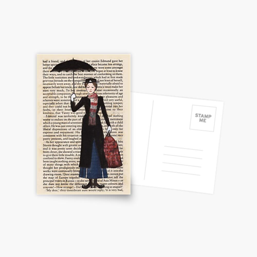 Mary Poppins Postcard