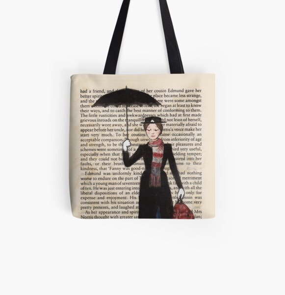 Mary Poppins All Over Print Tote Bag