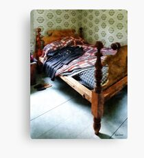 Long Sleeved Dress on Bed Canvas Print