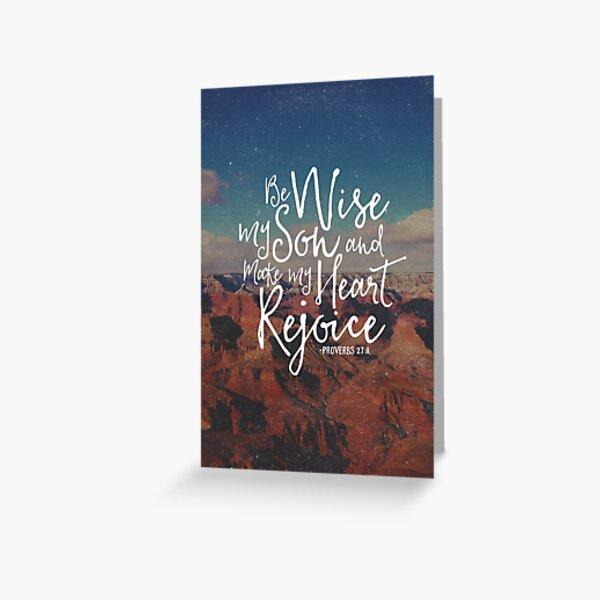 Make My Heart Rejoice Greeting Card