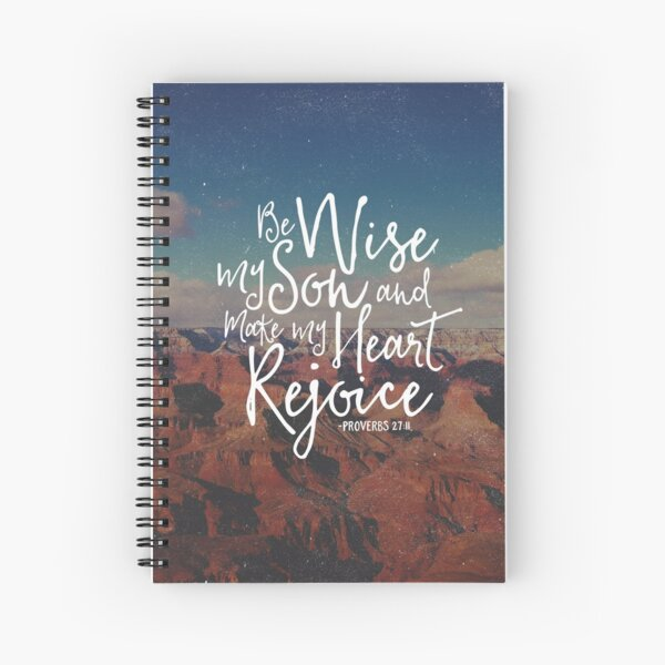 Make My Heart Rejoice Spiral Notebook