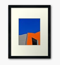 Orange Pop Abstract by Gaye G Framed Print