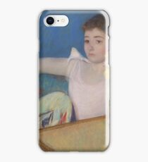 Mary Cassatt - Girl in Pink with a Fan  1889 , American Impressionism  iPhone Case/Skin