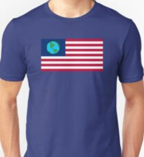 Futurama Earthican Flag Unisex T-Shirt