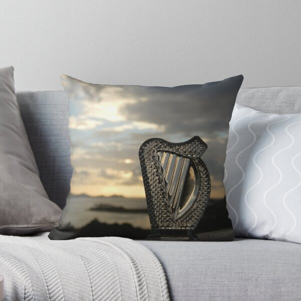 Crystal Harp at Sea Throw Pillow