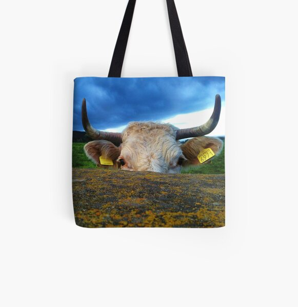 Peek-A-Moo All Over Print Tote Bag