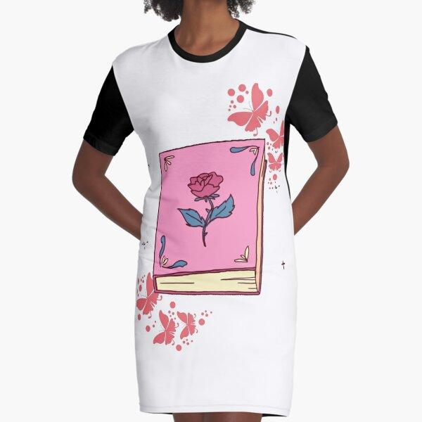 Rose Book Princess Graphic T-Shirt Dress