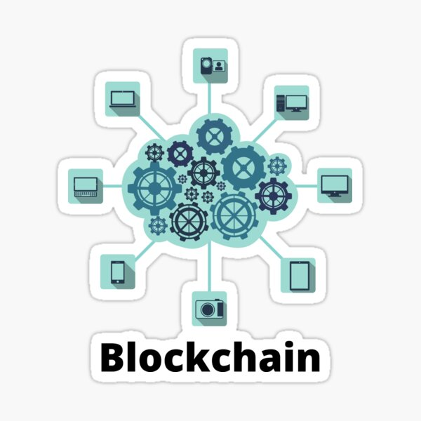 Blockchain T-shirts Stickers universe connected Sticker