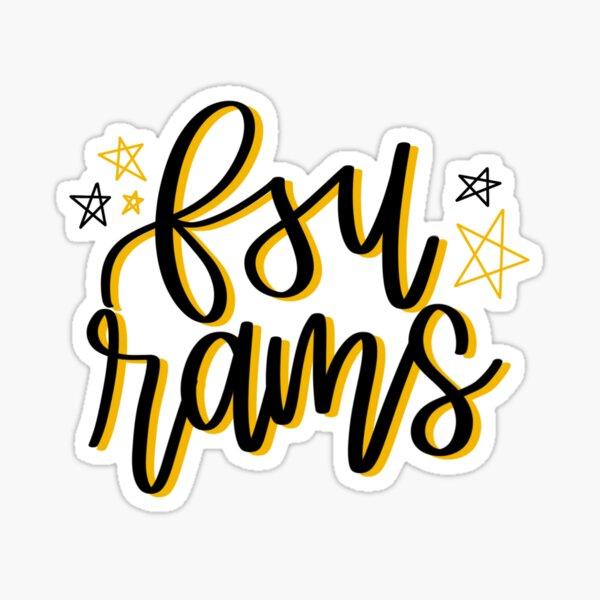 FSU Rams Star Design Sticker