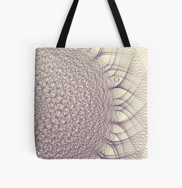 Contemporary Mandalas Track   Slow Down   Purple rain All Over Print Tote Bag