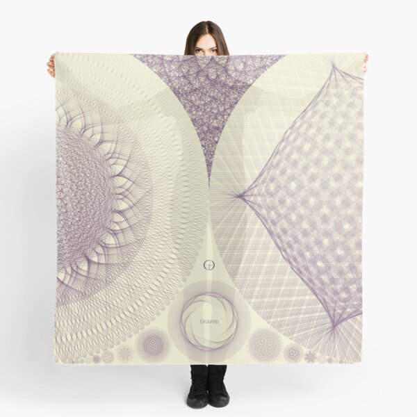 Contemporary Mandalas Track | Slow Down | Purple rain Scarf