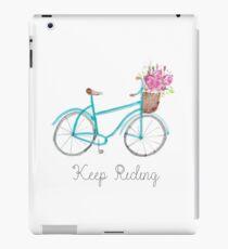 Keep riding, Watercolor bike iPad Case/Skin