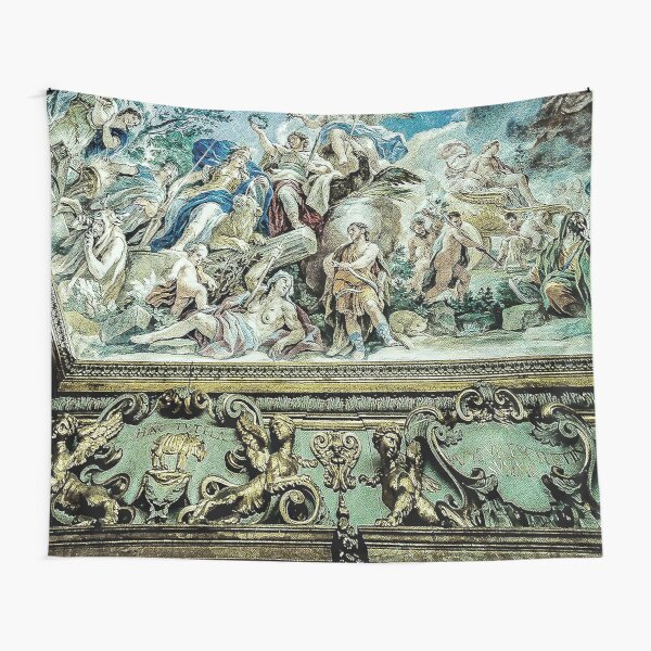 Painted Ceiling of Italian Palace- Palazzo Medici Riccardi in Florence, Italy Tapestry