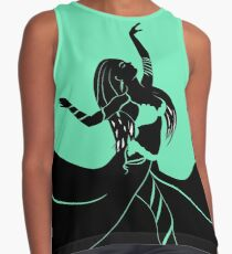 the dancing woman Contrast Tank