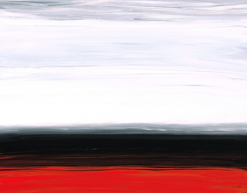 Quot White Horizon Abstract Red And Black Landscape Art Quot Art