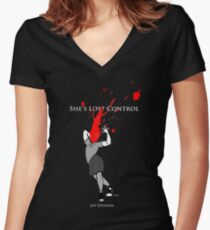Joy Division: She's Lost Control Women's Fitted V-Neck T-Shirt