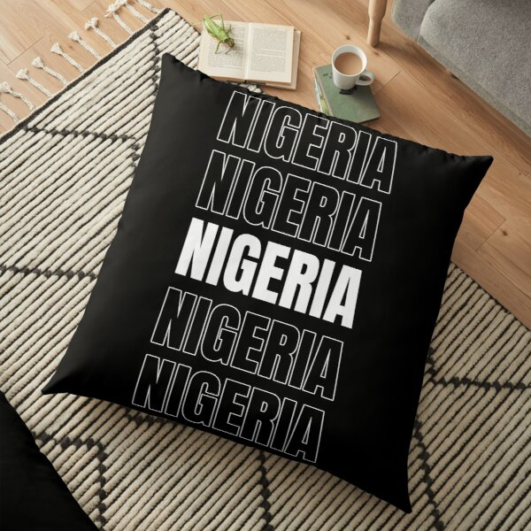 Nigeria repeated text Floor Pillow