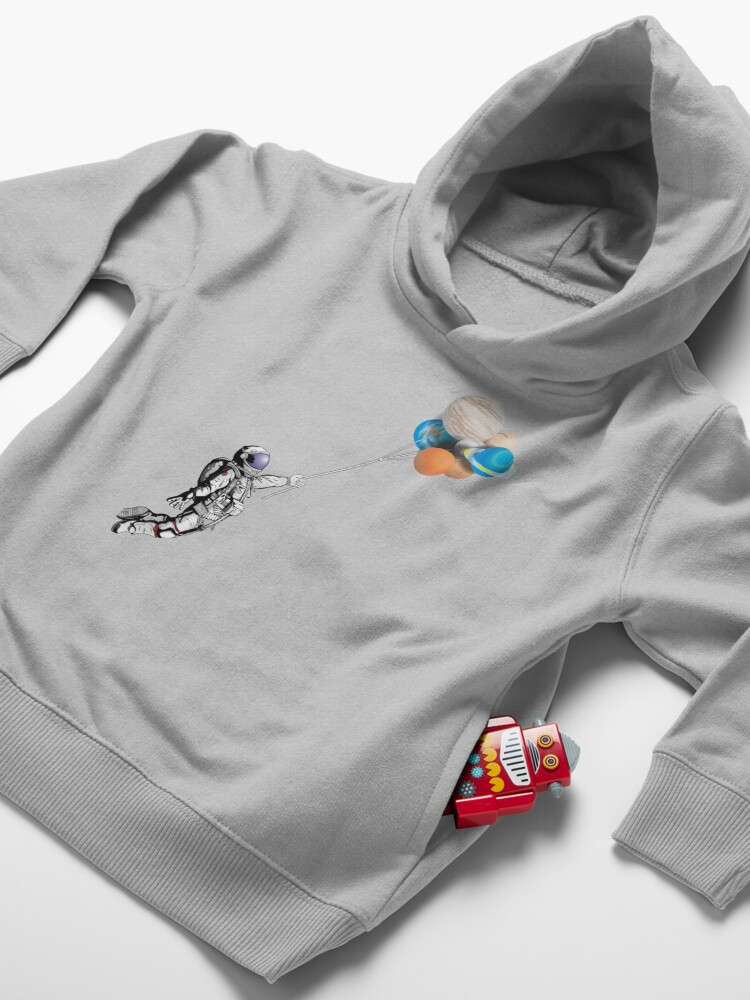 Alternate view of Astronaut with balloons Toddler Pullover Hoodie