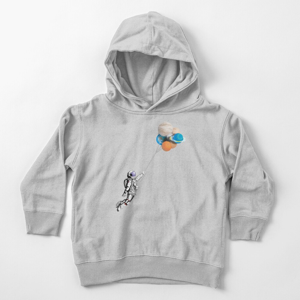 Astronaut with balloons Toddler Pullover Hoodie