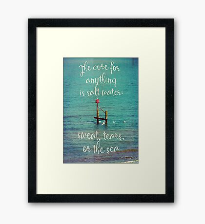 The cure for anything Framed Print