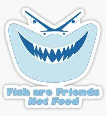 Los peces son amigos, no comida Pegatina
