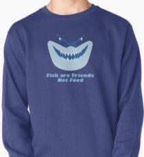 Los peces son amigos, no comida Sudadera sin capucha