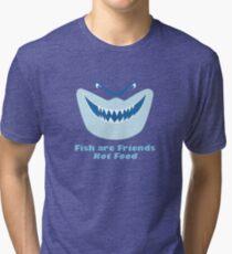 Los peces son amigos, no comida Camiseta de tejido mixto