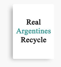 Real Argentines Recycle Canvas Print