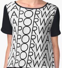 Multi VAPORWAVE Black Letters Women's Chiffon Top