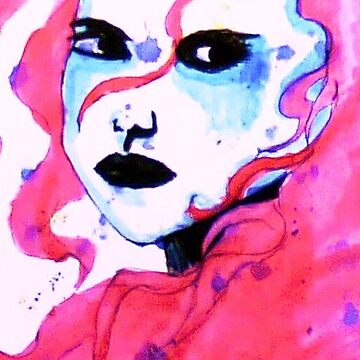 Watercolour woman by SarahArundale