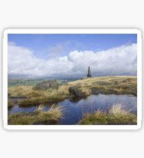 Stoodley Pike From The Pennine Way Sticker