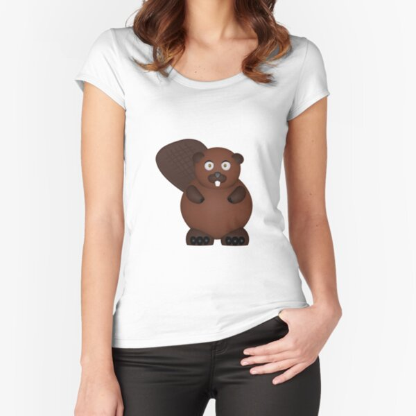 Beaver Fitted Scoop T-Shirt