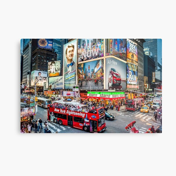 Times Square At Night II Special Edition II Metal Print