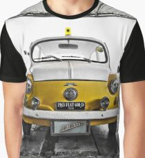 FIAT 600D - 1963 Yellow Graphic T-Shirt