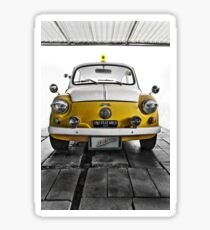 FIAT 600D - 1963 Yellow Sticker