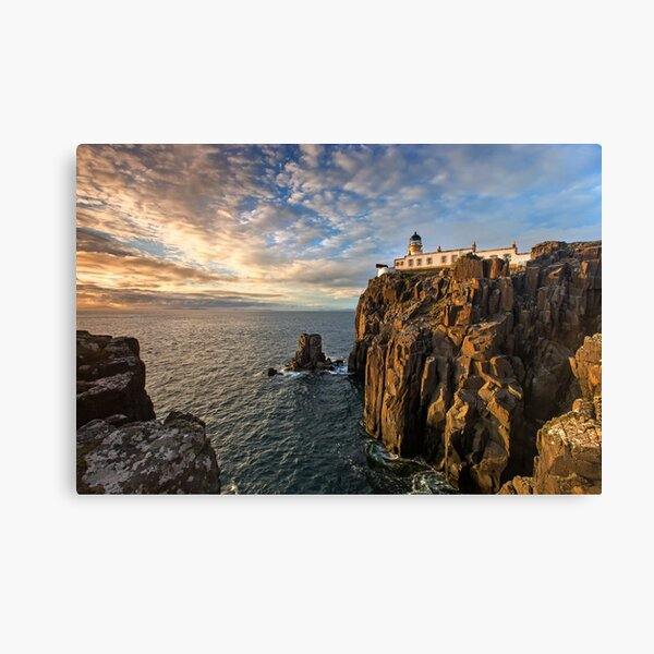 Sunset at Neist Point Lighthouse Canvas Print