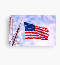 Mystic Memorial Day Flag Canvas Print