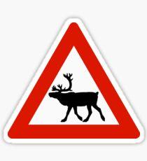 Pegatina Precaución Renos, señal de tráfico, Noruega