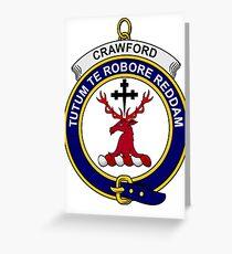 Crawford Clan Badge Greeting Card
