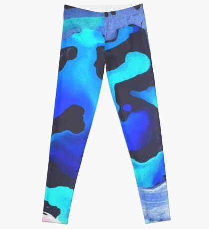 Swim with the Mermaids in the Great Natural Deep Blue Sea Leggings