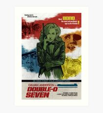 Gillian Anderson is Double-O Seven Art Print