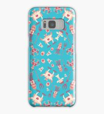 Fun monsters on blue Samsung Galaxy Case/Skin