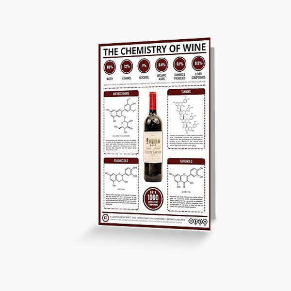 The Key Chemicals in Red Wine Greeting Card