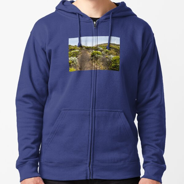 Pathway through scrub to the Cape Nelson Lighthouse. Zipped Hoodie