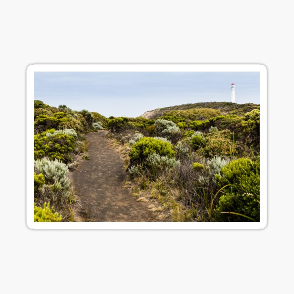 Pathway through scrub to the Cape Nelson Lighthouse. Sticker