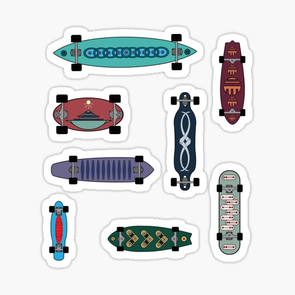 Skateboard Decks Cool Summer Pack Stickers Sticker