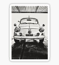 FIAT 600D - 1963 Black and White Sticker